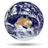 för jordmodell för 3d Australien ny sikt zealand Arkivbild