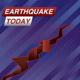 För jordskalv nyheternabaner i dag vektor illustrationer