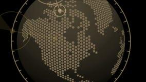 för jordstad för 4k för GPS för radar för global GPS översikt militär manöverenhet för navigering skärm lager videofilmer