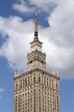 för josef för 50-talkultur folk polerad aktuell vetenskap stalin slott poland till warsaw Arkivfoto