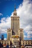 för josef för 50-talkultur folk polerad aktuell vetenskap stalin slott poland till warsaw Arkivbilder