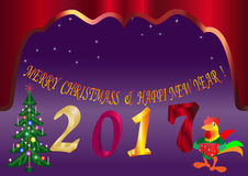 För julår för nytt år abstraktion för vektor för stjärna för bantamvikt Royaltyfria Bilder