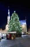 för jul fyrkantig townsikt kort Arkivfoton