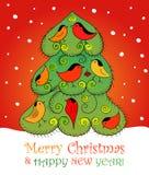 för juldark för bakgrund blå tree för snowflakes för gran mörkt Vektor EPS 10 Fotografering för Bildbyråer