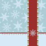 för julhälsningar för blankt kort mall Fotografering för Bildbyråer