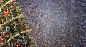 för julillustration för bakgrund härlig vektor för tree Arkivbilder
