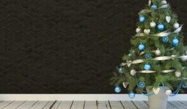 för julillustration för bakgrund härlig vektor för tree Royaltyfri Fotografi