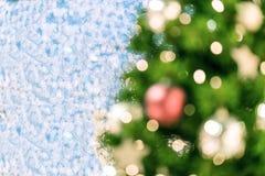 för julillustration för bakgrund härlig vektor för tree Bokeh defocused ljus Arkivbilder