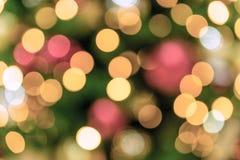 för julillustration för bakgrund härlig vektor för tree Bokeh defocused ljus Fotografering för Bildbyråer