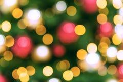 för julillustration för bakgrund härlig vektor för tree Bokeh defocused ljus Royaltyfri Bild