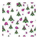 För julmodell för nytt år illustration för vektor arkivbild