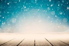 för juloklarheter för bakgrund ser blå lägre för kullar för lutning för flakes för färger sammansättning räknad horisontalmin por fotografering för bildbyråer