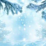 för juloklarheter för bakgrund ser blå lägre för kullar för lutning för flakes för färger sammansättning räknad horisontalmin por Arkivbild
