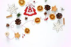för julsammansättning för bauble blått exponeringsglas Gåva julgarnering Fotografering för Bildbyråer