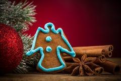 för julsammansättning för bauble blått exponeringsglas Royaltyfria Bilder