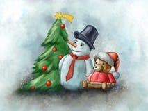 för julsammansättning för bauble blått exponeringsglas vektor illustrationer