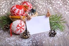 för julsammansättning för bauble blått exponeringsglas Royaltyfri Fotografi