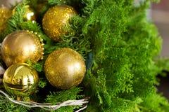 för julsammansättning för bauble blått exponeringsglas Royaltyfri Foto
