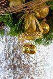 för julsammansättning för bauble blått exponeringsglas Arkivbilder