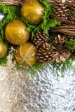 för julsammansättning för bauble blått exponeringsglas Arkivbild
