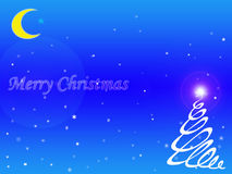 för julsnow för bakgrund blåa snowflakes Arkivfoton