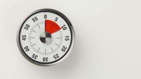 För köknedräkning för tappning parallell tidmätare, 30 minuter i skott för 20 sekunder tidschackningsperiod stock video