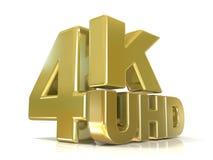 för 4K upplösningsteknologi ultra HD (hög definition) stock illustrationer