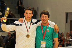 För kadettbrottning för 2014 europé mästerskap Royaltyfri Bild