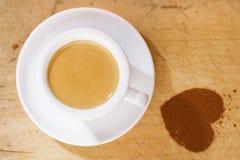 för kaffekopp för espresso white thick arkivbilder
