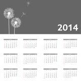 för kalendervektor för nytt år 2014 illustration Arkivbilder