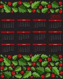 För kalendervektor för nytt år 2015 illustration Royaltyfri Bild