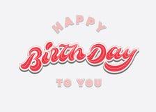 För kalligrafihand för bra eftermiddag modern födelsedag för kort för hälsning för typografi för bokstäver designhappy till dig t Arkivbild