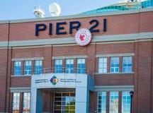 För kanadensareinvandring för pir 21 museum i Halifax Arkivfoto
