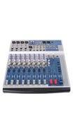 för kanalkonsol för audio 18 blandning Arkivbild