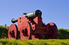 för kanonfästning för akershus antik jordning Arkivbilder
