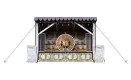 för karnevalskytte för tolkning 3D galleri på vit Arkivbilder