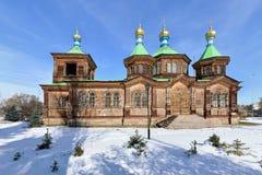 för kiev för arkitekturdomkyrkagud helig serve ställe till trinitytroyeshchinaen Royaltyfri Foto