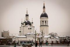 för kiev för arkitekturdomkyrkagud helig serve ställe till trinitytroyeshchinaen royaltyfri fotografi