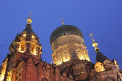för kiev för domkyrkamittstad sophia ukraine saint Royaltyfria Foton