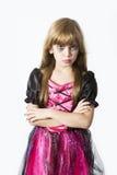 för klänninghelgdagsafton för karneval gulligt H för flicka för infall Arkivfoto