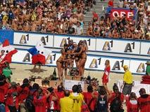för klagenfurt för strand storslagen volleyboll slam royaltyfria bilder