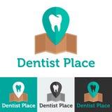 För kliniklogo för vektor plan tand- uppsättning Royaltyfri Bild