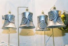 För klockajul för virkning typisk prydnad i Bohemia Royaltyfria Foton
