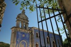 för klostertorn för klocka grekisk by Arkivbilder