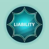 För knapphimmel för ansvar magisk glas- sunburst blå bakgrund för blått vektor illustrationer