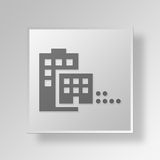 för knappsymbol för sammanslagning 3D begrepp Arkivfoto