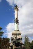 För kolonn kyrka nära av San Pietro, Perugia Arkivfoton