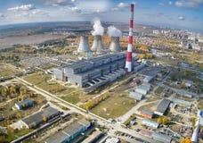 För kombinerad värme- och makt fabrik Tyumen Ryssland Royaltyfri Bild