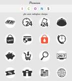 10 för kommers e redigerbar eps för mapp set för symbol fullt stock illustrationer