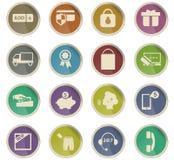 10 för kommers e redigerbar eps för mapp set för symbol fullt royaltyfri illustrationer